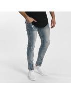 John H Slim Fit Jeans Destroyed modrý