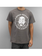 Joker T-Shirt Circle Clown gris