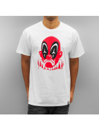 Joker T-Shirt Deadpool Clown weiß