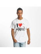 Joker T-Shirt Hood Love weiß