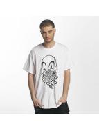 Joker T-Shirt Clown Brand weiß