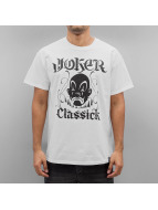 Joker T-Shirty Classick Clown bialy