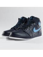 Jordan Baskets 1 Mid bleu
