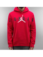 Jordan Bluzy z kapturem Jumpman Brushed Graphic PO 2 czerwony