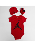 Jordan Other Jumpman 3 Pieces Onesie Set red