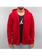 Jordan Sweat à capuche zippé Flight rouge