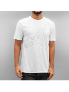 Jordan T-paidat Jumpman Rise Dri Fit valkoinen