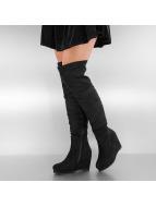 Jumex Boots-1 Overknee Wedge black