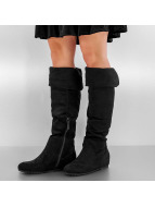 Overknee Booties Black...