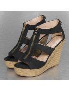 Jumex Sandales Wedge noir