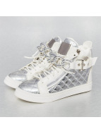 Jumex Sneakers High Top Metalic bialy