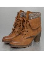 Jumex Stiefelette High Wool Bootie braun