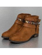 Jumex Stiefelette Chain Ethno braun