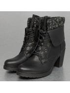 Jumex Stiefelette High Wool schwarz
