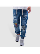 Just Rhyse Live, Work, Create Antifit Jeans Mid Blue