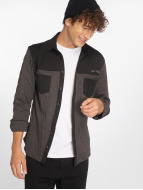 Just Rhyse Camisa Quilted negro