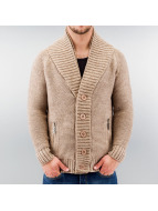Just Rhyse Cardigan Double Collar brown