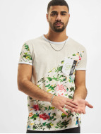 Floral T-Shirt Light Gre...