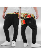 Flower Sweat Pants Black...