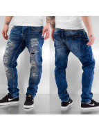 Just Rhyse Jeans a carota Destroyed blu