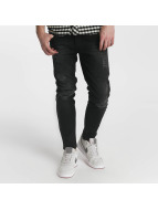 Just Rhyse Jeans Straight Fit Destroyed gris