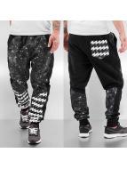 Just Rhyse joggingbroek Galaxy Stripes zwart