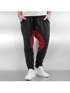Just Rhyse Melk Sweatpants Dark Grey/Red