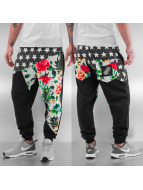 Just Rhyse Jogginghose Stars & Flowers schwarz