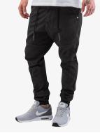 Just Rhyse Látkové kalhoty Börge čern