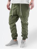 Just Rhyse Látkové kalhoty Börge olivový