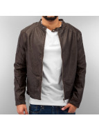 Just Rhyse Lederjacke Leather braun