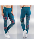 Just Rhyse Legging/Tregging Flower turquoise