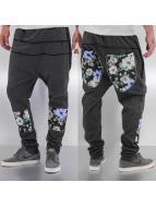 Just Rhyse Flower Sweat Pants Dark Grey
