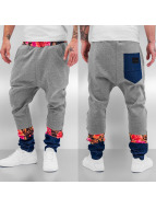Just Rhyse Pantalone ginnico Denim Flower grigio