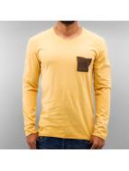 Just Rhyse Pitkähihaiset paidat Breast Pocket keltainen