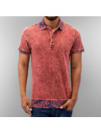 Just Rhyse Polo Paisley Polo Shirt rouge