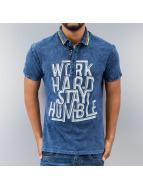 Just Rhyse Work Hard Polo Shirt Blue