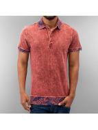 Just Rhyse poloshirt Paisley Polo Shirt rood