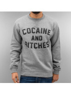 Just Rhyse Pullover Cocaine & Bitches grau
