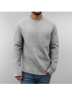 Just Rhyse Pullover Honeycomb Pattern grau