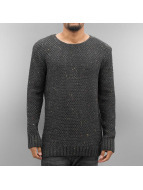 Just Rhyse Pullover Soft Knit grau