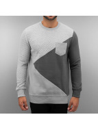 Just Rhyse Pullover Zick Zack gris