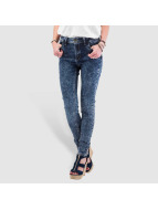 Just Rhyse Skinny Jeans High Waist blau
