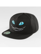 Just Rhyse Snapback Caps Grinning Cat musta