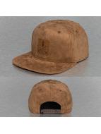 Just Rhyse Snapback Caps Leather Look ruskea
