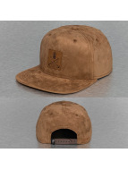 Just Rhyse Snapback Leather Look hnedá