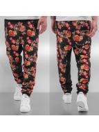 Just Rhyse Flower Sweat Pants Black