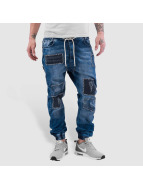 Just Rhyse Straight Fit Jeans Patches blue