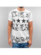 Just Rhyse T-Shirt Flower II blanc