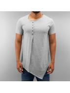 Just Rhyse T-Shirt Button grau